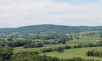 Greenwood Township, Columbia County, Pennsylvania - Greenwood Valley looking northwest from Turkey Path Road in southern Greenwood Township