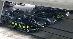 Swiss Border Guard - Vehicles of the Swiss Border Guard at the EuroAirport (2014).