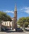 Grisolles (Tarn-et-Garonne) Eglise St.Martin. Façade.jpg