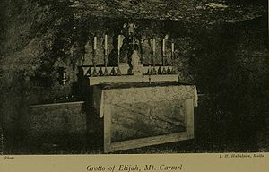Cave of Elijah - One cave associated with Elijah, Stella Maris Monastery on Mount Carmel in Haifa