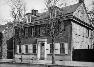 Grumblethorpe - The House before its restoration in the 1960s, showing its early 19th-century Georgian-style facade
