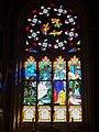 Guerlesquin 31 Eglise Saint-Ténénan La maîtresse-vitre (épisode de la vie de saint Ténénan).jpg