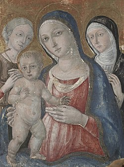 Guidoccio di Giovanni Cozzarelli - Virgin and Child with Saints Margaret and Catherine of Siena - 1943.258 - Yale University Art Gallery.jpg