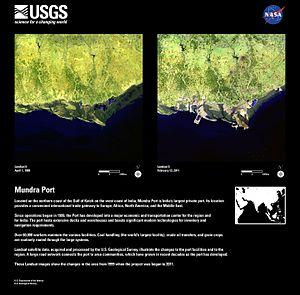 Mundra Port - Mundra Port Aerial View 1999 to 2011