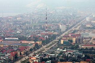 Hòa Bình City in Vietnam