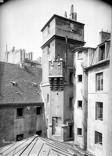 Hôtel de Sens - Tour, Partie supérieure - Paris 04 - Médiathèque de l'architecture et du patrimoine - APMH00004505