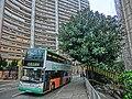 HK 北角半山 North Point Mid-Levels 雲景道 81 Cloud View Road tree n bus 81A n Hilltop Mansion facade Apr-2014.JPG