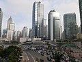 HK 金鐘 Admiralty 夏慤道 Harcourt Road footbridge view Police force HQ January 2020 SS2 01.jpg