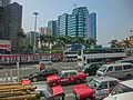 HK Hung Hom 康莊道 Hong Chong Road tunnel bus view 新東海中心 New East Ocean Centre Mar-2013.JPG