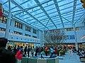 HK Ma Tau Wai 327 Prince Edward Road 聖德肋撒醫院 Saint Teresa's Hospital 九龍法國醫院 courtyard interior transparent ceiling visitors Feb-2014.JPG