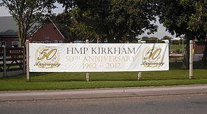 HM Prison Kirkham - 50th anniversary banner, 2012