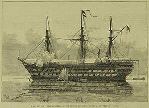 HMS London (1840) - Image: HMS London 1881
