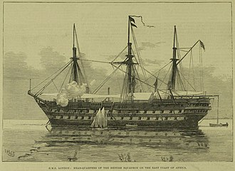 Lloyd Mathews - HMS London in Zanzibar