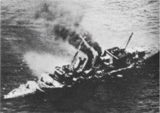 Indian Ocean raid - Image: HMS Cornwall 1942 WWII
