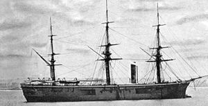 Alfred Ryder (Royal Navy officer) - The ironclad warship HMS ''Penelope'', Ryder's flagship as Commander-in-Chief, China Station