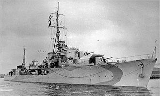 Battle of the Malacca Strait - S class destroyer HMS Saumarez