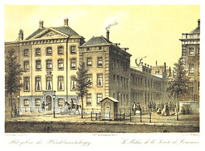 Netherlands Trading Society - The first building in Amsterdam, 1860