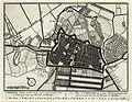 HUA-135690-Plattegrond van de stad Utrecht met directe omgeving met weergave van wegen en watergangen van het stratenplan en van enkele kerken en pleinen met ges.jpg