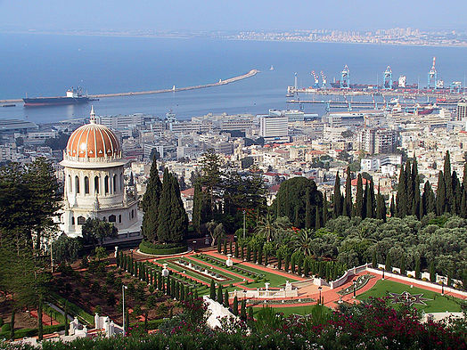 The Shrine of the Bab in Haifa Haifa Shrine and Port.jpg