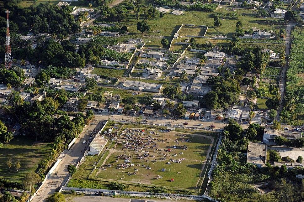 Haiti earthquake damage overhead