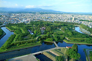 Goryōkaku Star fort in Hakodate, Japan