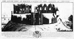 Halton (barony) - Halton Castle in the 18th century