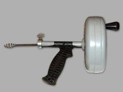 Handheld Drain Auger - Drum barrel pistol grip drain snake