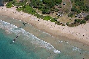 Hapuna Beach State Recreation Area - 2005 aerial view of Hapuna Beach