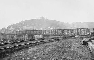 B & O Railroad Potomac River Crossing - Image: Harpers Ferry Bollman Bridge
