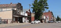 Main Street (Nebraska Highway 29) en Harrison, agosto de 2010