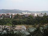 鉢形城本丸跡から見た荒川
