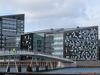 Havneholmen, Copenhagen - Havneholmen viewed from Islands Brygge with Brygge Bridge in the foreground