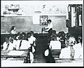 Health and nutrition work in one-room, white frame school near Ithaca, around 1920. This ... (3856803406).jpg