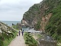 Heddon's Mouth - showing limekiln by the beach - geograph.org.uk - 875915.jpg