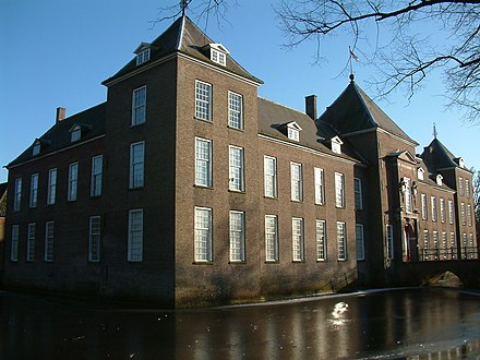 Kasteel Heeze te Heeze, since the year 1733 in possession of Francois Adam d'Holbach. In 1735 additional buildings were erected. Paul Henri Thiry Holbach inherited this estate in 1750. Heeze001.JPG