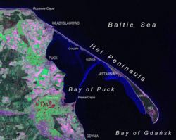 Hel Peninsula as seen from Landsat satellite in 2000