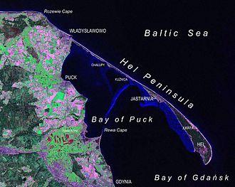 Hel Peninsula - Hel Peninsula as seen from Landsat satellite in 2000