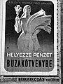 Helyezze pénzét buzakötvénybe. Plakát, 1943 Fortepan 72618.jpg