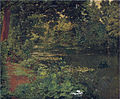 Henri Biva, A woodland pool, oil on canvas, 59.6 x 73 cm.jpg
