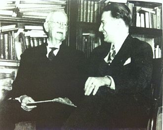 Henry R. Evans - Evans with magician Milbourne Christopher.