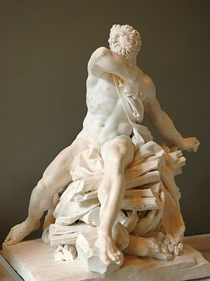 Guillaume Coustou the Elder - Hercule sur le bûcher, 1704