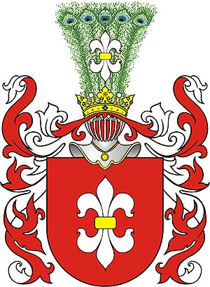 Heraldic clan - ''Gozdawa'' coat of arms, with heraldic clan of over 300 family surnames
