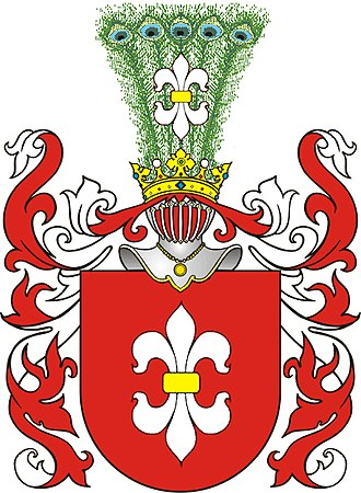 Fleur-de-lis - Dorje (Dzierżoń) as used in the Gozdawa coat of arms, Poland.