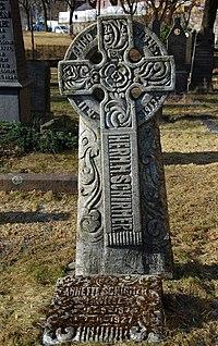 Herman Major Schirmer (1845—1913), gravminne på Gamle Aker kirkegård i Oslo, DSC 3691.jpg