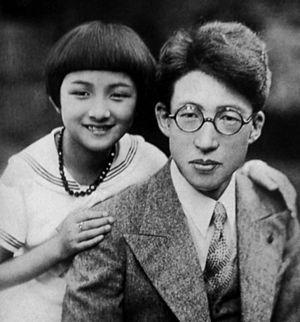 Hideko Takamine - Takamine (left) and Taro Shoji (right) in 1934