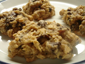 High Fiber Oatmeal Raisin Chocolate Chip Cookies.
