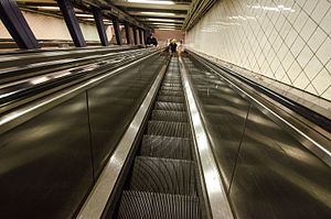 High Street (IND Eighth Avenue Line) - One of the sets of escalators to the station's platforms