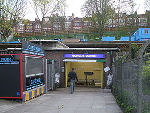 Highgate tube station - Eastern entrance on Priory Gardens