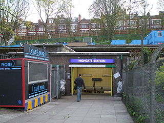 London Underground and former railway station