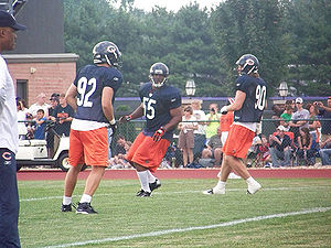 Lance Briggs - Briggs (55) at the Bears summer training camp in 2008.